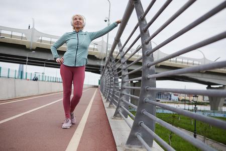 Mature sportswoman Фото со стока