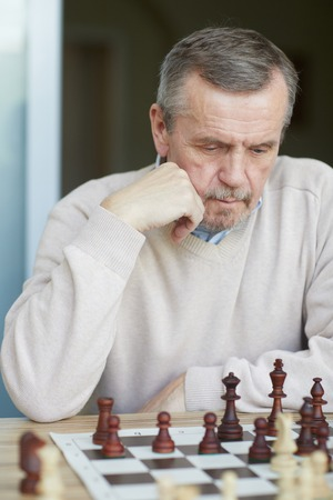 Puzzled old grandmaster