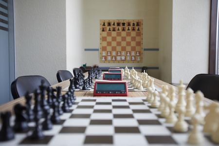 Well organized chess classroom Stok Fotoğraf