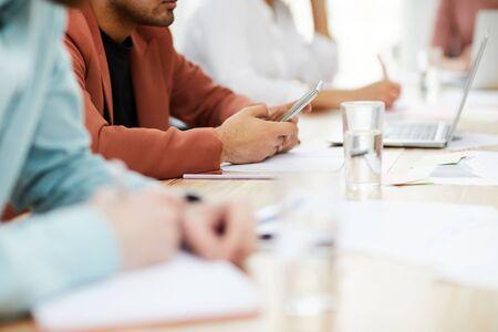 Businesspeople in Meeting Closeup