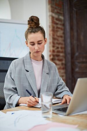 Contemporary Businesswoman Working in Office