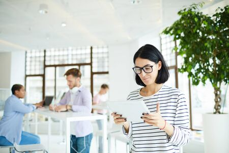 Lady in co-working space