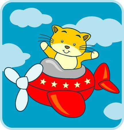 cartoon poes: cartoon kat