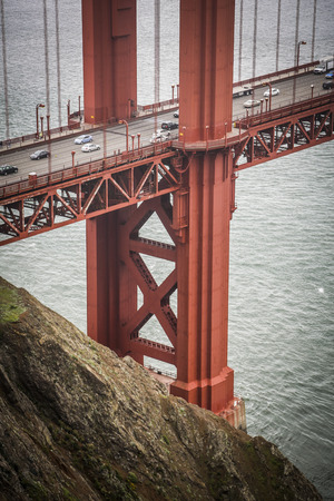 acrophobia: Foggy Golden Gate Bridge, San Francisco