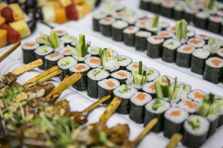 寿司ビュッフェケータリング 写真素材