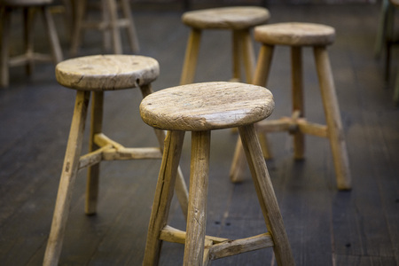 the stool: Wooden Stools Restaurant