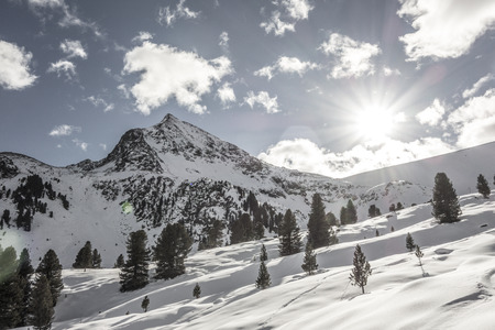 winter sports: Snowy mountains in the Alps, winter sports