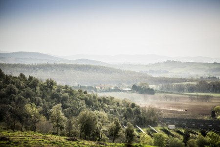 mountainbiking: Tuscany near Florence Stock Photo