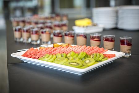Catering & buffet  fruit - kiwi, watermelon, prunes