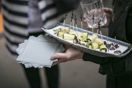 Courgette rolls  catering