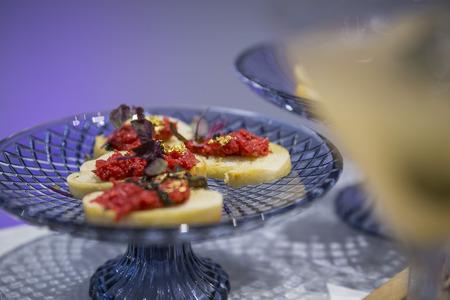 Bruschetta on bread  catering