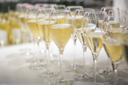 Champagne glasses / catering