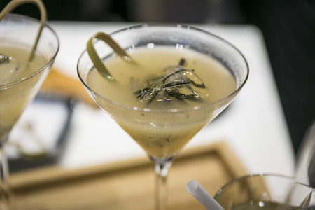 Catering  Long drink with rosemary ice cubes