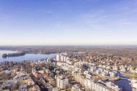 Berlin Tegel  Tegeler See aerial view