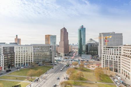 Berlin Potsdamer Platz & Leipziger Platz with Kollhoff-Tower 写真素材
