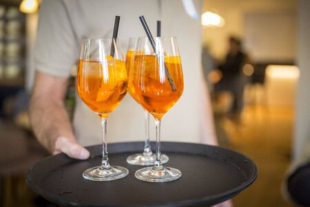 Tray with aperitif  Spritz  Catering