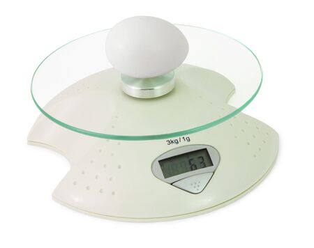 Definition of weight of an egg by means of electronic scales