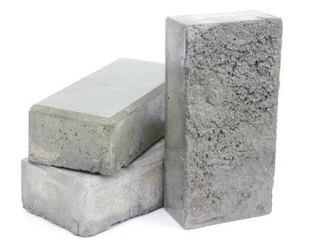 concrete form: Concrete blocks for paving the sidewalk