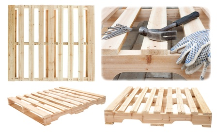 Manufacture of wooden platforms for the transportation of construction materials