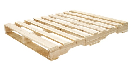 Neue h�lzerne Plattformen f�r den Transport von Konstruktion-Materialien