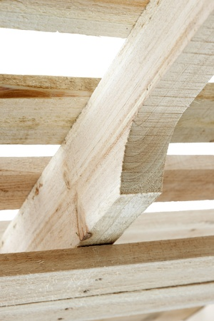 New wooden structure put together from pine boards Stock Photo - 9302859