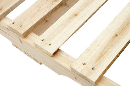 New wooden platforms  for the transportation of construction materials Stock Photo