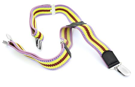 suspenders: Kids colored suspenders on a white background