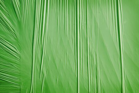 packing material: Green background from a thin packing material