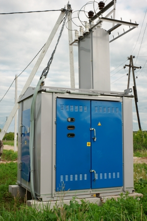 Transformer station installed near the village Stock Photo - 13908801