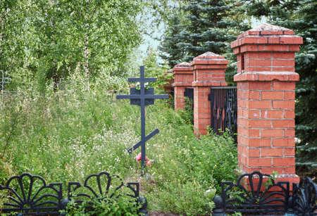 inoperative: Inoperative Trinity Cemetery in Balakhna,  Russia, Nizhny Novgorod region