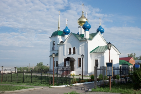 The Church Of The Intercession Of The Mother Of God  City of Lukoyanov  Russia photo
