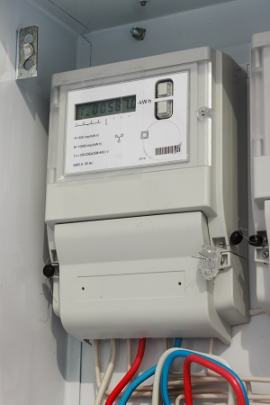 Electric meter in a special lockable metal locker