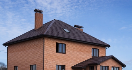 outbuilding: Roof tiles in a brick house and outbuilding
