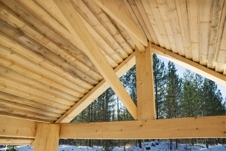 Internal surface of a wooden roof, arbour