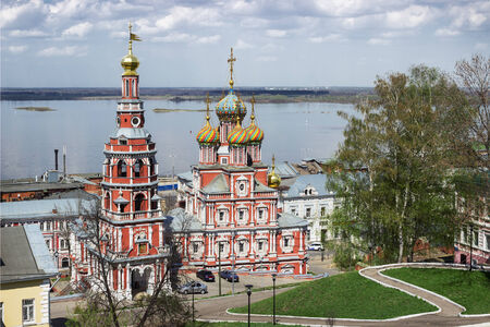 Cathedral Church of the MostHoly mother of God in Nizhny Novgorod. Russia photo