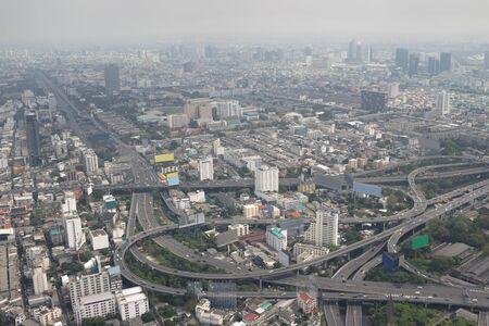 Smog over Bangkok in the city center. Thailand Stock Photo