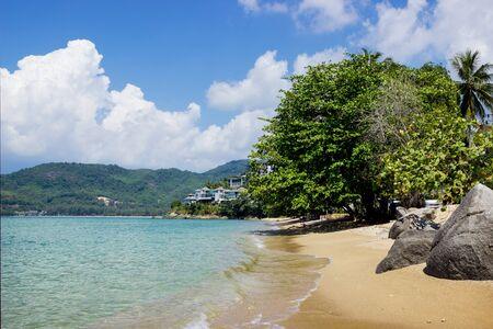 Guiet sea wave sand beach, Phuket, Thailand photo