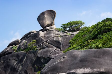 believed: Famous Sail Rock, it is believed symbol of Similan Islands