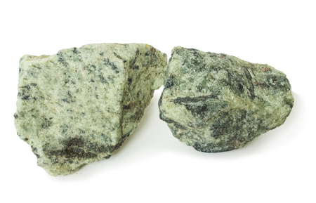 two piece: Two piece apatite ore, raw material for production of fertilizers Stock Photo