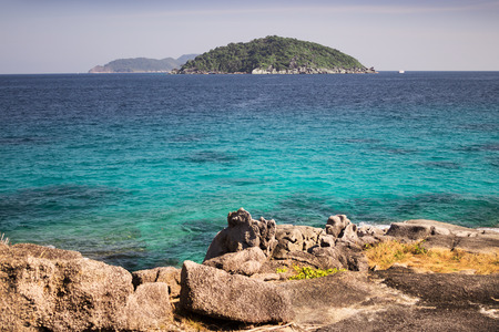 From the island you can see the other Similan island archipelago, Thailand