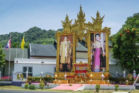 royals: Phuket, Thailand - Mar 01, 2015: Photographic portrait beloved royals in the village of Kamala on the island of Phuket, Thailand Editorial