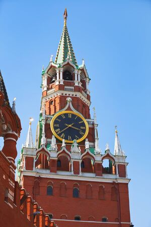 spassky: Clock chimes of the Spassky Tower of the Moscow Kremlin. Moscow. Russia
