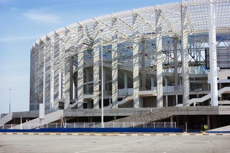 RUSSIA, NIZHNY NOVGOROD - AUG 20, 2017: One of the cities of the World Cup 2018. In sity successfully the stadium for 45 thousand spectators is being built