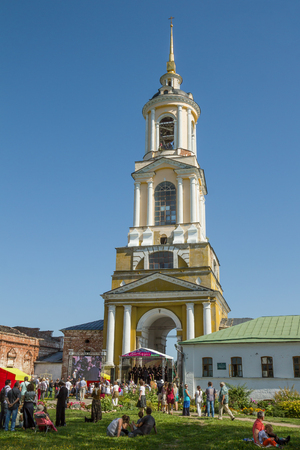 Suzdal, Russia - Aug 26, 2018: Concerts in the framework of the festival