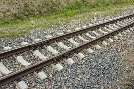 Narrow Gauge Railway. Track width 750 millimeters. Concrete sleepers