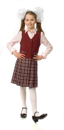 school uniform girl: The girl in uniform