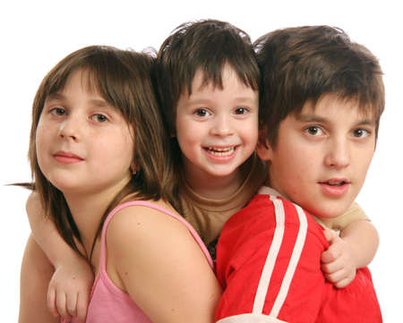 Three childrens - two brosers and sister Stock Photo - 5215547