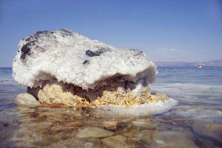 The big crystal of salt of Dead Sea photo