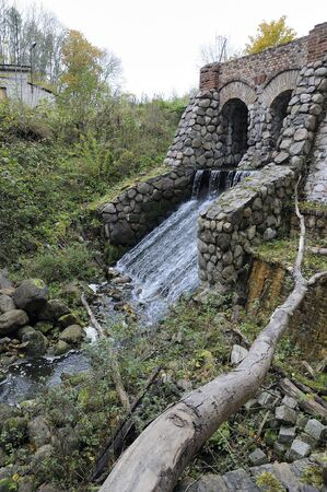 watermill: Ruins of an old water-mill Stock Photo