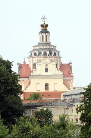 casimir: St. Casimir church in Vilnius, baroque style architecture
